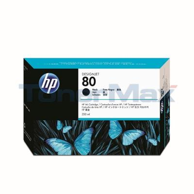 HP DESIGNJET 1050C NO 80 INK BLACK 350ML